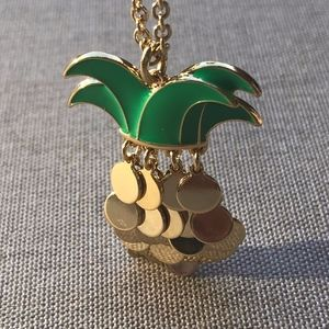 Talbots Goldtone Necklace with Pineapple Charm